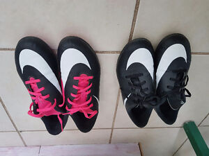 Youth girls and boys Nike soccer cleats