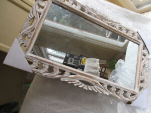"""Mirror.brand new. 18""""x 30""""  solid wood frame.prc.firm"""
