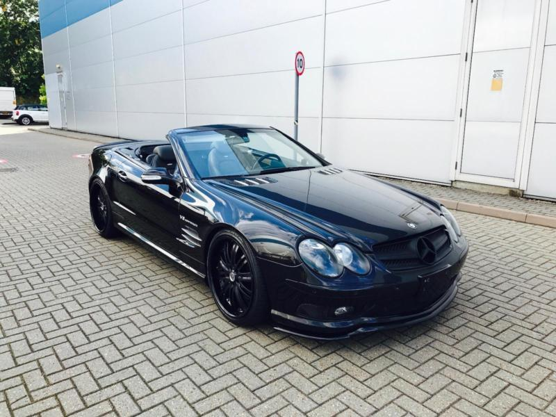 2003 mercedes benz sl55 amg 5 5 lhd left hand drive black bodykit in watford. Black Bedroom Furniture Sets. Home Design Ideas