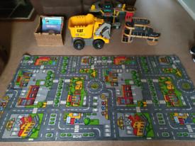 Books/Cars/Playmat/Wooden Garage