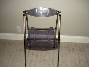 MOVING! Selling a Clear Lucite Folding Chair