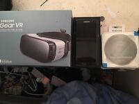 """Samsung Galaxy S7 edge """"Mint/like-new"""" 32gb Black Onyx; Inc. GEAR VR and WIRELESS CHARGING PAD QC2.0"""