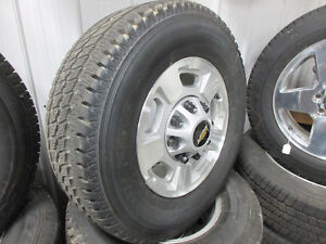 GMC 17'' 8 bolt wheels and tires
