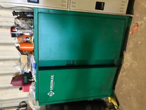 """60"""" greenlee 2 door steel cabinet"""