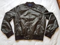 Brand New French Connection FCUK Black Nylon Jacket Size: Small