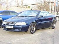 Volvo C70 2.0 Auto Convertable 2003 T GT Blue FSH 1 Years Mot, 6 Months Warranty
