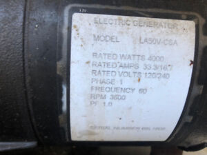 Briggs & Stratton 4000W Run/5000W Start Gasoline Generator