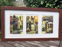 Framed watercolour pictures