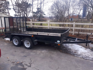 2017 tandem axle landscape trailer with ramp