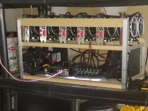Mining rig 6 x 580 8gb MSI