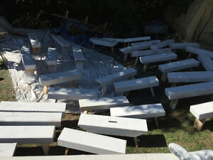 Only 9 white garden benches remaining!!