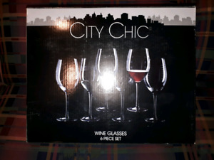 City chic wine glasses