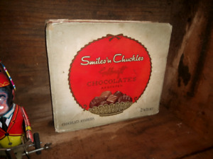 Vintage  smiles and chuckles  candy box
