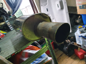 Big bore car back box exhaust pipe