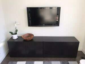 IKEA Besta Modern TV Living Room Cabinet in Black Dark Brown