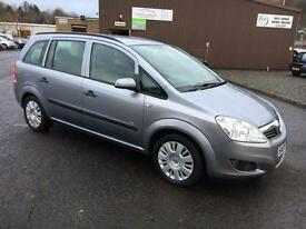 0909 Vauxhall Zafira 1.6i 16v Life Silver 7 Seater 67487mls MOT 12m