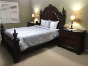 6PC Queen or Full/Double wood bedroom set for $1800
