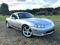 MAZDA MX-5 1.8I SPORT 2003 03 PLATE PETROL 6 SPEED MANUAL LEATHER HARD TOP