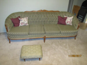 65 YEAR OLD FRENCH PROVINCIAL COUCH AND CHAIR