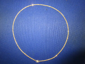 ***COMPARE TO OTHERS & SAVE***22 k-18 inch Diamond Cut