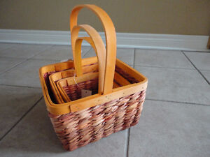 Brand new with tags set of 3 orange colour nesting baskets decor London Ontario image 3