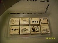 Wood Stamps assorted messages $3.00 each