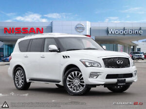 2017 INFINITI QX80 .ALMOST NEW . AFFORDABLE LUXURY.