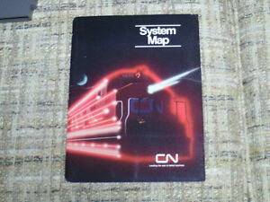 CN Canadian National System map