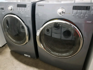 SAMSUNG GREY STACKABLE LAUNDRY SET