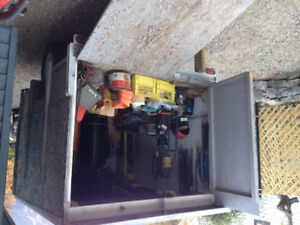 """Utility trailer, heavy duty 3/4 ton dropped axle, 3"""" thick deck."""