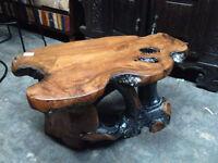 Table basse racines teck Indonésie/Coffee table teak Indonesia