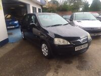 Vauxhall Corsa 1.2 5 dr Full MOT+Service+Warranty all included.