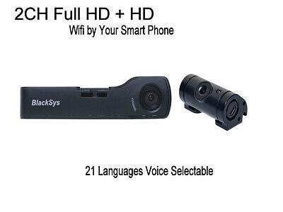 Blacksys BlackBox 2CH CH-100B Full HD WIFI by SmartPhone +DC fuse cable- 16GB