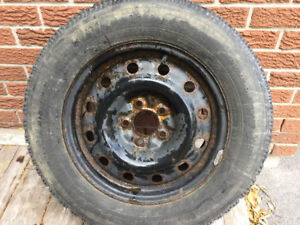 4 Goodyear Nordic winter tires on rims