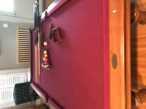 Olhausen Pool Table with accessories