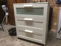 White 3 drawer unit