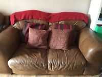 BROWN LEATHER 2 PIECE SOFA SET! CHEAP, COLLECTION