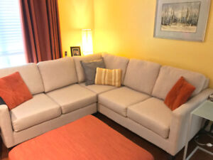 L-shape sofa - less than 2 years old