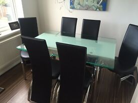 Free Glass dining table & chairs