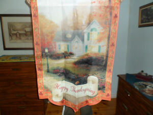 Thomas Kinkade Thanksgiving Flag