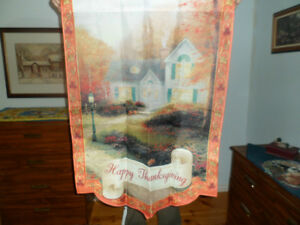 Thomas Kinkade Thanksgiving Flag Kawartha Lakes Peterborough Area image 1