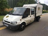2006 Ford TRANSIT 350 LWB TREE SURGEON TIPPER Manual Double Cab
