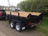 Dump trailer for hire. Shingles/Concrete