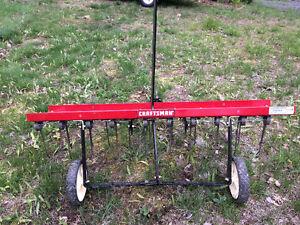 Mastercraft tow behind lawn raker