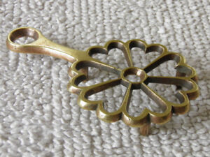 1840's Brass Kitchen Table Trivet