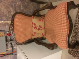 Beautiful antiqued looking custom designed chairs from Decorrest