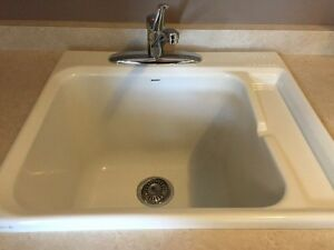 Laundry Room cabinets and sink London Ontario image 3
