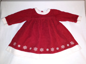 Hanna Andersson Baby Christmas Dress Size 12-18mts