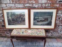 Pair Framed Coaching Prints Circa 1869 - H Alken & EL Hester - Rare VGC - CAN DELIVER