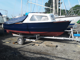 17ft FISHING AND DAY BOAT. £3,500 or part x